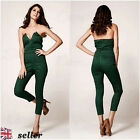 UK Womens Celeb Sexy V Neck Backless Playsuit Plunge Maxi Jumpsuit Evening Party