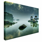 Zen like Lake Seascape with Trees Canvas Art Cheap Wall Print Home Interior