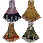 New Womens Ladies Sleeveless Swing Summer Casual Dress Floral Print Plus Size