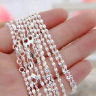 """Bulk 16""""-30"""" 925 Sterling Silver Twisty Rope Wavy Chain Necklace Lobster Clasp"""