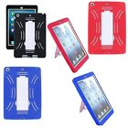 Clearance!Apple iPad Air Tablet Heavy Duty Hybrid Silicone Cover/Hard Case Stand