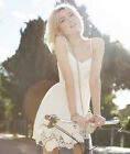 Women's Summer Sexy Lace Floral Evening Cocktail Mini Dress Polyester+Cotton