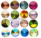 1 PCS SWAROVSKI ELEMENTS 1122 Rivoli 14mm Round Stone Foiled Glue Fix  & Colours