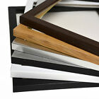 Thin Picture Photo Frame Oak/Walnut with Mount fit 10x8 10x7 7x5 A4 8x8 square