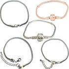 Ladies Womens Girls Kids Snake Charm Bracelets For Silver European Charm Beads