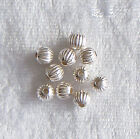 5mm Sterling Silver Round Fluted Corrugated Ribbed Spacer Beads