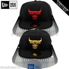 New Era 59Fifty Flat Peak Chicago Gold Red Bulls NBA  Fitted Cap + Gift BOX