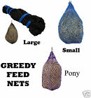 "Gannet Greedy Feed Haylage / Hay Nets Small or Large 1"" Holes & New Pony"