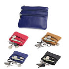 Lady Women Girl Real Leather Top Zip ID Coin Purse Small Wallet Key Chain Holder