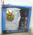 (NEW) 4pc Doggie Dog Gift Set Puppy Trench Coat ,Collar,leash & Pet Charm