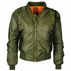 Ladies MA1 Retro Fit Bomber Biker Pilot Designer Jacket Padded Coat Size  Womens