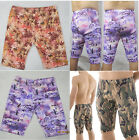 K361 Mens Half Shorts Beach Cycle Pants Penguin  Maple Leaves Camo