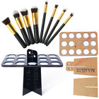 Collapsible Air Drying Organizing Holder + Makeup Brush shadow Powder Tool Set