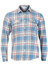 H&M Mens Casual Check Long Sleeve Cotton Shirt - New Twin Button Pockets Checked
