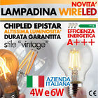 Lampadina LED E27 Wireled Vintage a filamento 4W e 6W