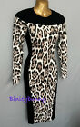 KAREN MILLEN Leopard Print Fine Knit Dress BNWT Size 1&2 UK 8 & 10 Knitted KV073