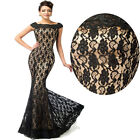 Mermaid Vintage Style Lace Formal Evening Cocktail Pageant Ball Gown Prom Dress