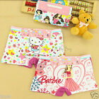 8PCS Cartoon Cotton Boxers Briefs Underwear Boyshorts for Girls Kids Size: 2T-9T