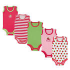 Luvable Friends Girls 5 Pack Red/White/Green/Pink Assorted Strawberry Theme Slee