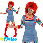 Chucky Costume Womens Ladies Female Halloween Childs Play Fancy Dress Outfit
