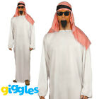 Mens Arab Costume Shiek Sultan Arabian Osama Bin Ladden Fancy Dress Outfit Tunic