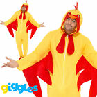 Chicken Costume Mens Womens Fancy Dress Jumpsuit World Book Day Week