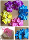 2 x Double Cattleya Orchid Flower Hair Clip Bridal Beach Wedding 50s Rockabilly