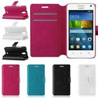 PU Magnetic Flip Leather Wallet Cards Stand Case Cover For Huawei Ascend Y360
