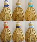 Adorable Gold turquoise royal pool navy blue taffeta flower girl dress all sizes