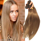 High Quality Ash Brown Silky Straight Real Human Hair Extension 6A Hair Wefts