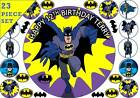 "Batman Personalised 7.5"" Edible Cup Cake Topper Icing Or Wafer Birthday Party"