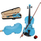 8 Colors 4/4 Basswood Acoustic Violin w/ Case Rosin Bow Bridge Halloween Gift