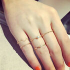 5Pcs Rings Stack Rhinestone Above Knuckle Band Midi Ring Set Party Jewerly Rings