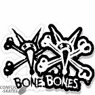 "BONES / POWELL PERALTA ""Vato Stacked"" Skateboard Sticker 6"" Black or White x1"