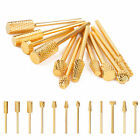 Electric Gold Coated Carbide Acrylic UV Gel Nail Drill Bit Nail Art Replacement
