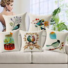 "Painting Bird 18""x45cm Decor Cotton Linen Cushion cover Pillowcase"