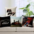 "Furious7 18""x45cm Decor Cotton Linen Cushion cover Pillowcase"