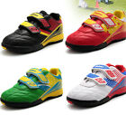 2015 Kids Boys Athletic breathable football boots soccer sneakers velcro shoes_