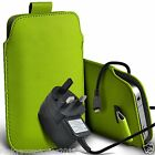 Pull Tab Phone Pouch Case+CE RoHS Mains Charger?Motorola Moto G 3rd gen