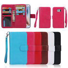 Luxury 9 Card slot Leather Wallet Flip Case Cover for Samsung Note5 S6 Edge Plus