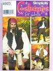 Simplicity 4923 Sewing Pattern Gents/Mens Pirate Costume Frock Waistcoat Shirt