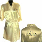 Personalised CREAM Wedding Robe / Dressing Gown - Bride Bridesmaid - in 2 Sizes