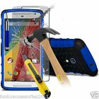 Shock Proof Dual Layer Case✔Tempered Glass LCD Guard for Motorola Moto G 3rd Gen