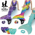 Mermaid Tails Swimming Costume 5pcs Swimsuit With NEW Olympic Monofin Girls Fin