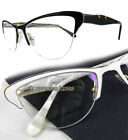 Women Cat eye Eyeglass frames Lady Optical spring hinges white/purple/tortoise