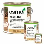 Osmo Teak Oil Clear Exterior Wood Furniture & Decking Oil 007 - All Sizes