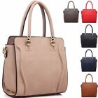Ladies Designer Faux Leather Tote Handbag Shoulder Bag Grab Bag Satchel M2992