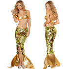 Hot Sexy Mermaid Costume for Women Adult Halloween Fancy Party Cosplay Dress