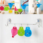 Foldable Practical Silicone Gel Collapsible Style Funnel Hopper Kitchen Tool Hot