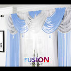 NET CURTAIN SWAG SWAGS TASSLE VOILE DECORATIVE DRAPES PELMET VALANCE ALL COLOURS